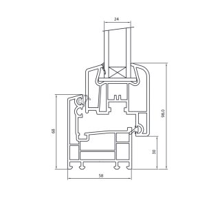 akf kunststoff fenster sf 100 wei mit isolierglas 24 mm 99 70 top. Black Bedroom Furniture Sets. Home Design Ideas