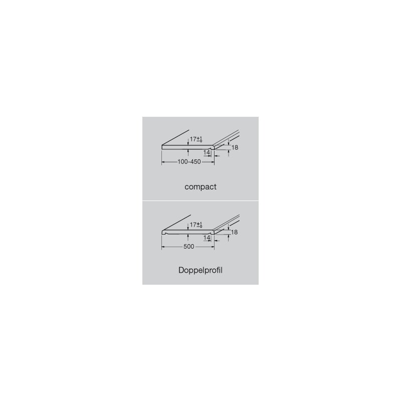 Werzalit Fensterbank Compact S18 Betolit - Perlstruktur, 6,07 ...