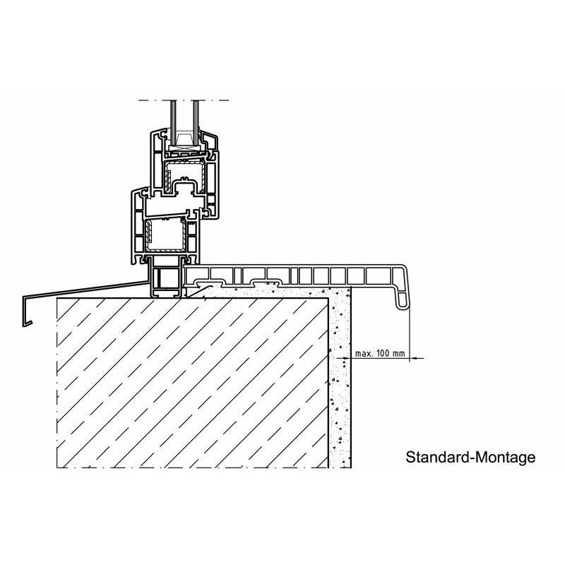 kunststoff fensterbank marmor pvc inkl endkappen tiefe 100 mm x l nge 1100 mm 10 34. Black Bedroom Furniture Sets. Home Design Ideas