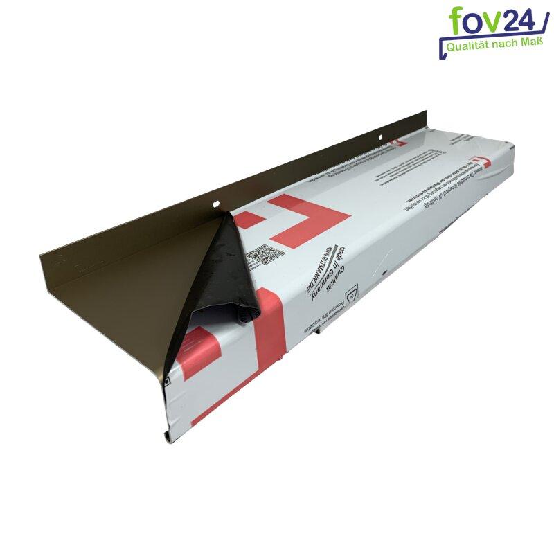 weitere L/ängen und Farben w/ählbar Aluminium Fensterbank in Silber Zuschnitt nach Ma/ß L/änge 800 mm Ausladung 110 mm