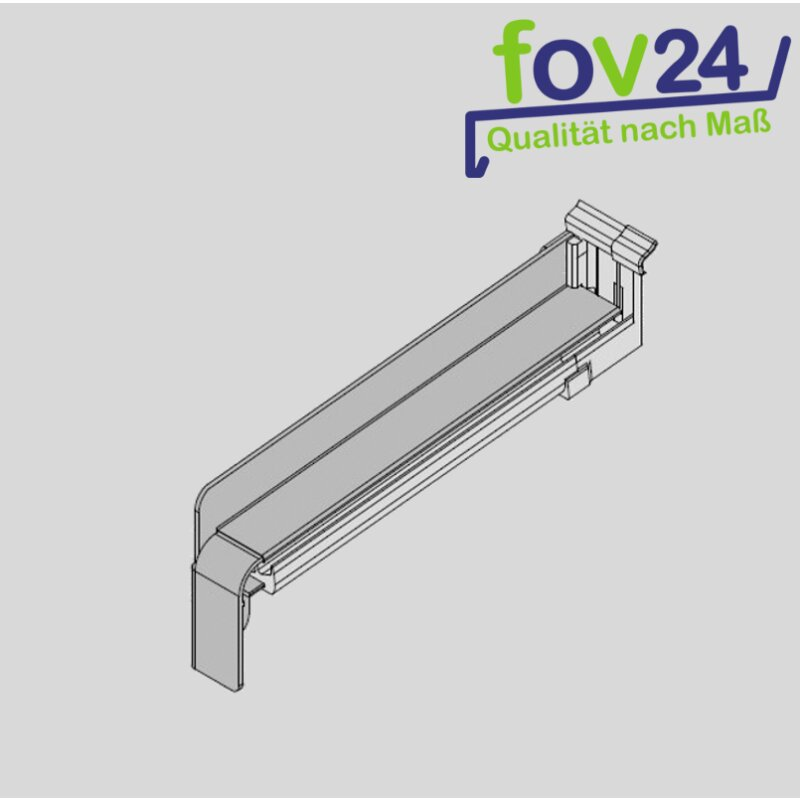 gutmann aluminium fensterbank anthrazit ral 7016 matt aluminium gleitabschluss bf 4004 3 37. Black Bedroom Furniture Sets. Home Design Ideas
